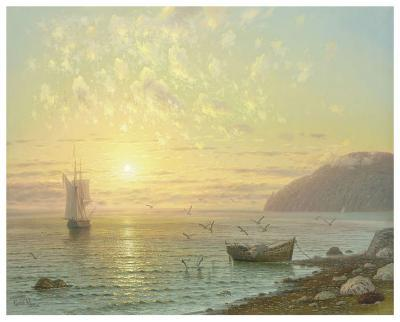 Sunset At Jalta-A^ Gorjacev-Art Print