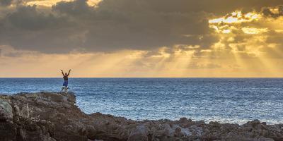 Sunset at Kawakiu Nui on Molokai's West End-Richard A^ Cooke-Photographic Print