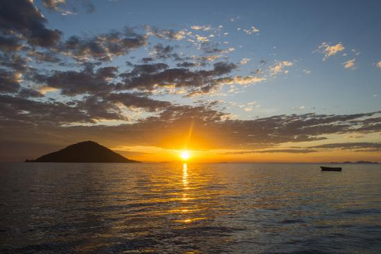 Sunset at Lake Malawi, Cape Maclear, Malawi, Africa-Michael Runkel-Photographic Print