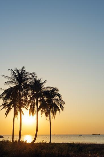 Sunset at Long Beach, Phu Quoc Island, Vietnam, Indochina, Southeast Asia, Asia-Christian Kober-Photographic Print