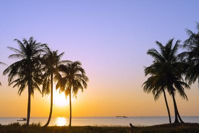 Sunset at Long Beach, Phu Quoc Island, Vietnam, Indochina, Southeast Asia, Asia-Christian Kober-Photographic Print