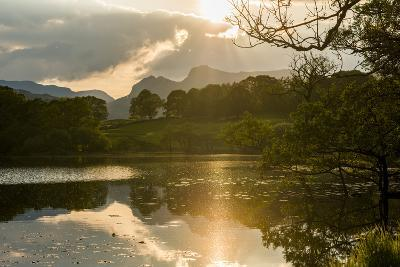 Sunset at Loughrigg Tarn Near Ambleside, Lake District National Park, Cumbria-Alex Treadway-Photographic Print
