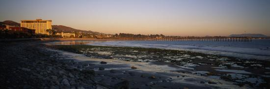 Sunset at Low Tide on Ventura Beach and the San Buenaventura Pier-Rich Reid-Photographic Print