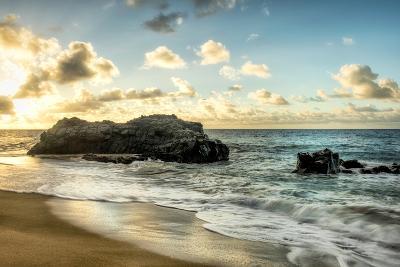 Sunset at Lumahai Beach-Danny Head-Photographic Print