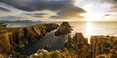 Sunset at Malin Head, Donegal, Ireland-Chris Hill-Photographic Print