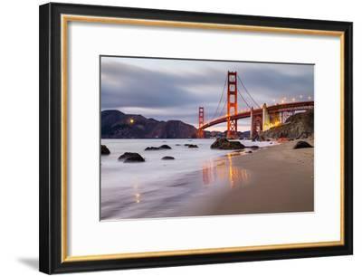 Sunset at Marshall Beach, Golden Gate Bridge, San Francisco California-Vincent James-Framed Photographic Print