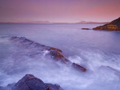 Sunset at Mellon Udrigle, Waves and Rocks, Wester Ross, North West Scotland, United Kingdom, Europe-Neale Clarke-Photographic Print