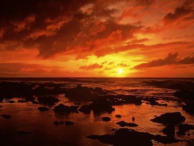 Sunset at Napili Point, Maui, Hawaii, USA-Charles Gurche-Photographic Print