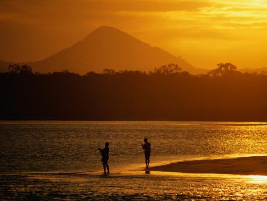 Sunset at Noosa Heads, Noosa, Australia-Peter Hendrie-Photographic Print