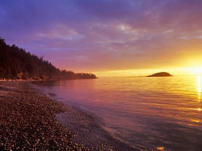 Sunset at North Beach at Deception Pass State Park, Washington, USA-Chuck Haney-Photographic Print