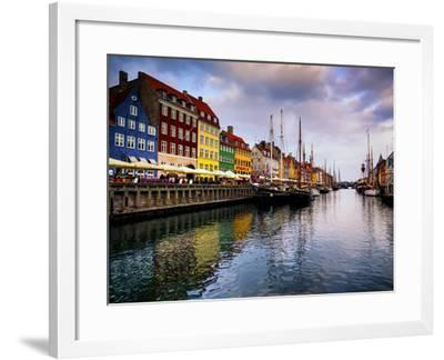 Sunset at Nyhavn, Copenhagen, Denmark, Scandinavia, Europe-Jim Nix-Framed Photographic Print