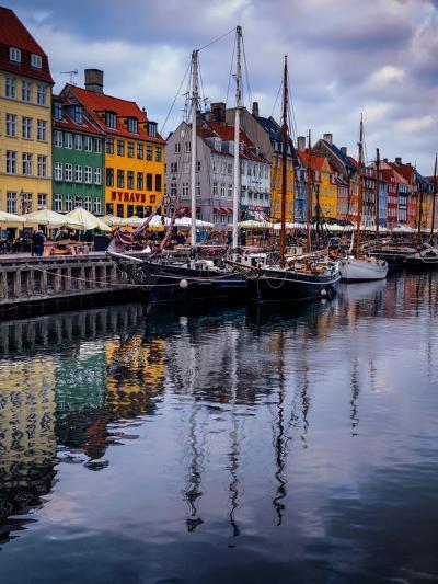 Sunset at Nyhavn, Copenhagen, Denmark, Scandinavia, Europe-Jim Nix-Photographic Print