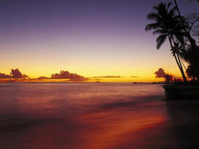 Sunset at Oahu-Brian Lawrence-Photographic Print