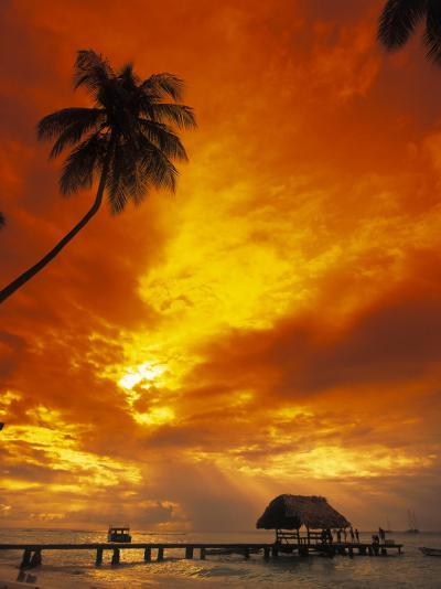 Sunset at Pigeon Point, Tobago, Caribbean-Terry Why-Photographic Print