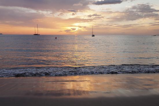 Sunset at Playa De Las Vistas Beach, Los Cristianos, Canary Islands-Markus Lange-Photographic Print