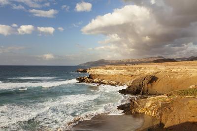 Sunset at Playa Del Viejo Rey, La Pared, Fuerteventura, Canary Islands, Spain, Atlantic, Europe-Markus Lange-Photographic Print