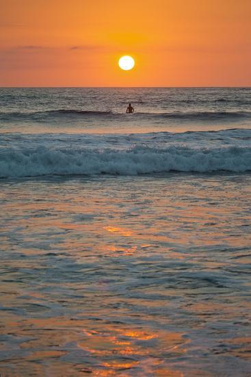 Sunset at Playa Guiones Surfing Beach-Rob Francis-Photographic Print