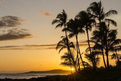 Sunset at Poipu Beach, Kauai, Hawaii, United States of America, Pacific-Michael DeFreitas-Photographic Print