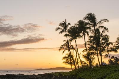 Sunset at Poipu Beach Kauai, Hawaii-Michael DeFreitas-Photographic Print