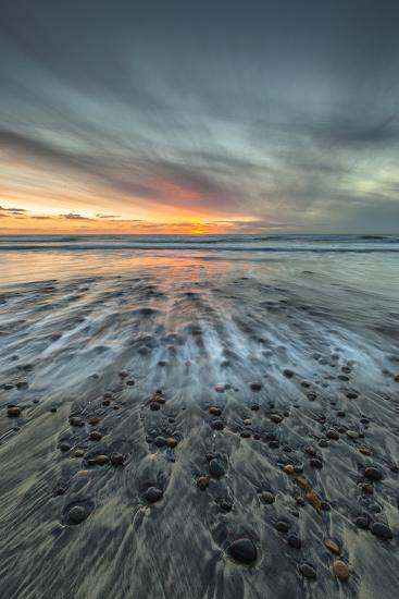 Sunset at Ponto Beach in Carlsbad, Ca-Andrew Shoemaker-Photographic Print