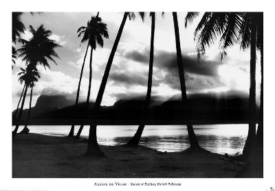 Sunset at Raiatea, French Polynesia-Alexis De Vilar-Art Print