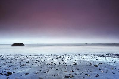 Sunset at Ruby Beach with Rock, Olympic National Park, Washington-Keith Ladzinski-Photographic Print