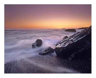 Sunset at San Simeon State Park Big Sur, California-Tim Fitzharris-Art Print