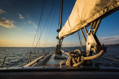 Sunset at Sea on aboard the Yacht Sailing-Zhukov Oleg-Photographic Print
