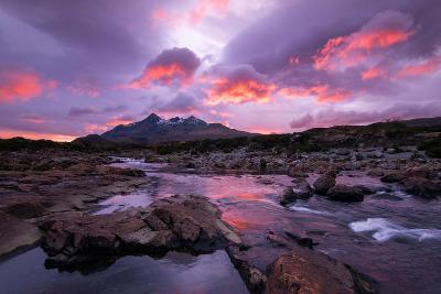 Sunset at Sligachan on the Isle of Skye, Scotland UK-Tracey Whitefoot-Photographic Print
