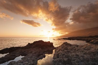 Sunset at South Coast Near La Restinga, El Hierro, Canary Islands, Spain, Atlantic-Markus Lange-Photographic Print