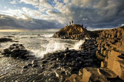 Sunset at the Giant's Causeway in Northern Ireland-Chris Hill-Photographic Print