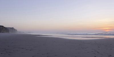 Sunset at the Portuguese Atlantic Coast, Praia Do Bom Sucesso, Province Obidos-Axel Schmies-Photographic Print