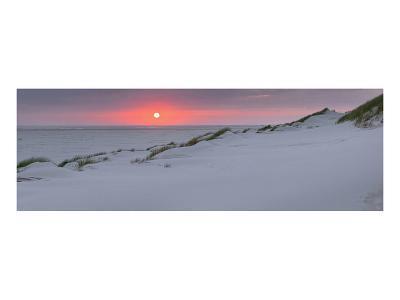 Sunset at the sea, Amrum, Schleswig-Holstein, Germany--Art Print