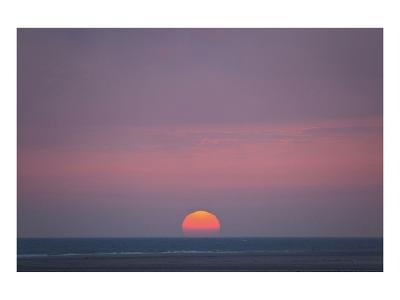 Sunset at the sea, Amrum, Schleswig-Holstein, Germany--Art Print