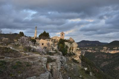 Sunset at the Village of Siurana, Spain-Keith Ladzinski-Photographic Print