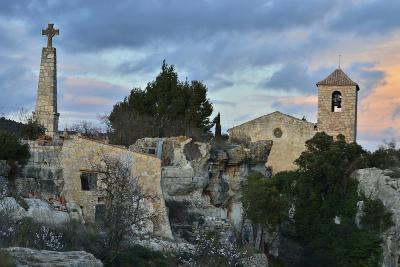 Sunset at the Village of Siurana, Spain-Keith Ladzinski-Photographic Print