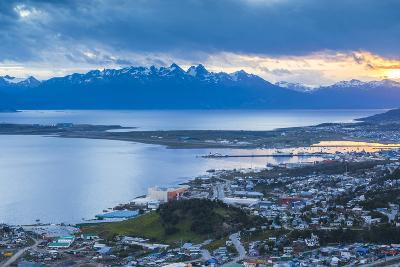 Sunset at Ushuaia, the Southern Most City in the World, Tierra Del Fuego, Patagonia, Argentina-Matthew Williams-Ellis-Photographic Print