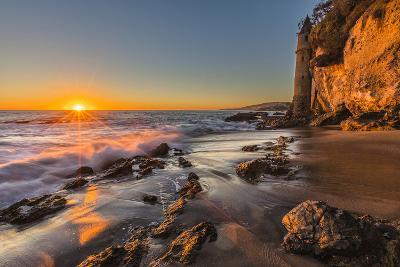 Sunset at Victoria Beach in Laguna Beach, Ca-Andrew Shoemaker-Photographic Print