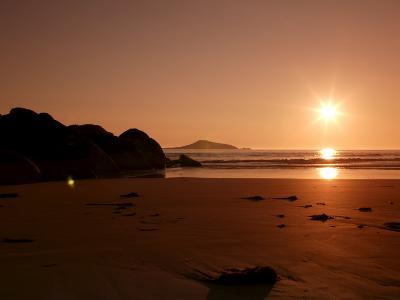 Sunset at Whiskey Beach, Wilsons Promontory National Park, Victoria, Australia-Thorsten Milse-Photographic Print