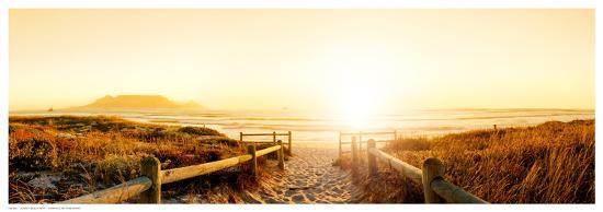 Sunset Beach Path--Art Print