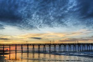 Sunset Beach Pier at Sunrise, North Carolina, USA