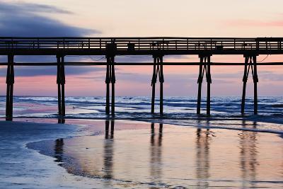 Sunset Beach Pier at Sunrise, North Carolina, USA--Photographic Print