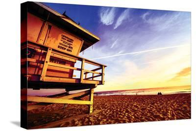 Sunset Beach--Stretched Canvas Print