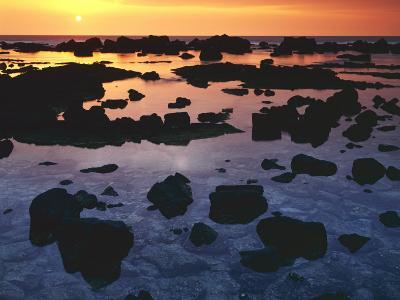 Sunset, Big Island of Hawaii, Kona Coast, Hawaii, USA-Charles Gurche-Photographic Print