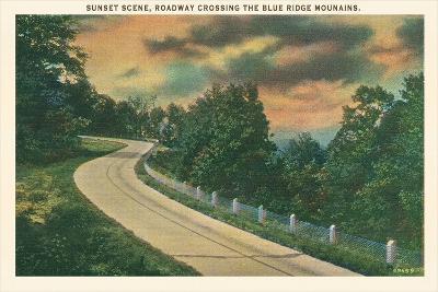 Sunset, Blue Ridge Mountains--Art Print