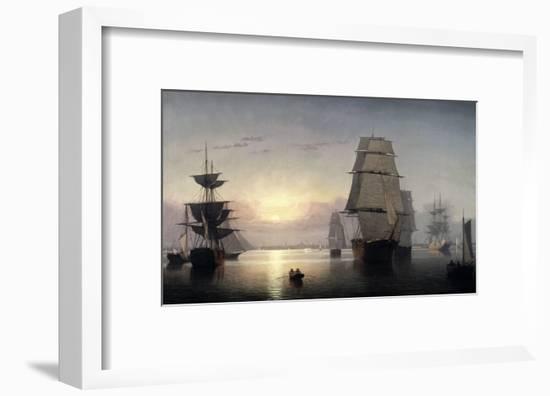 Sunset, Boston Harbor-Fitz Hugh Lane-Framed Giclee Print