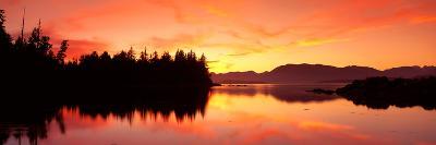 Sunset Broken Islands Pacific Rim National Park BC Canada--Photographic Print