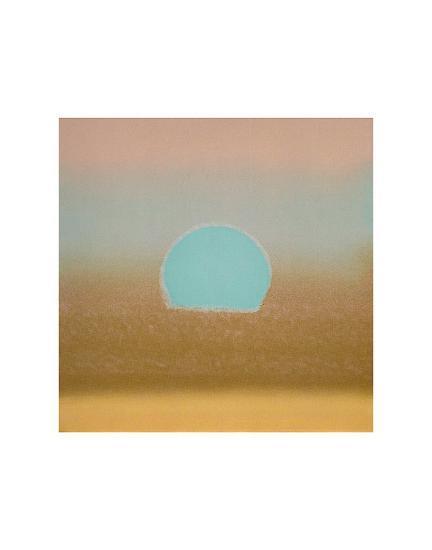 Sunset, c.1972 40/40 (gold, blue)-Andy Warhol-Art Print