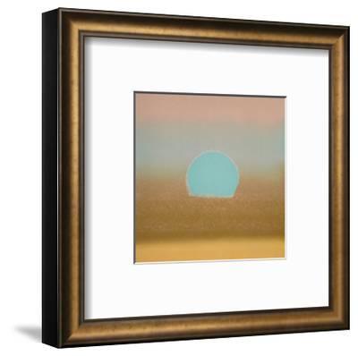 Sunset, c.1972 40/40 (gold, blue)-Andy Warhol-Framed Art Print