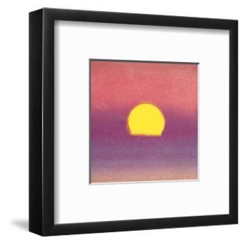 Sunset, c.1972 40/40 (lavender)-Andy Warhol-Framed Art Print